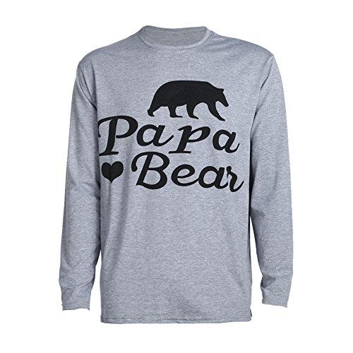 Camiseta de manga comprida para pais e filhos da Diamondo (tamanho Papa P)