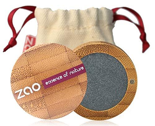 ZAO Pearly Eyeshadow 110 grau metallic Lidschatten schimmernd / Perlglanz in nachfüllbarer Bambus-Dose