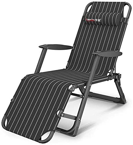PAKUES-QO Sillón reclinable Plegable Sillas de salón Ajustables de Gravedad Cero Sillas reclinables Tumbonas para Patio, Piscina, Soportes, sillas de jardín