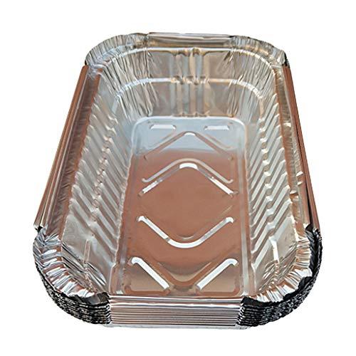 joyMerit - Grilltropfschalen in Silber, Größe 19,6 x 12,6 x 5,3 cm