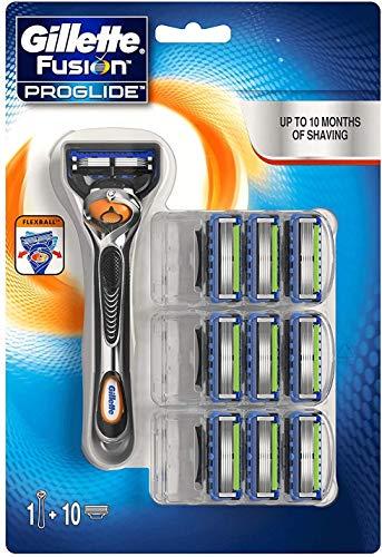Gillette Fusion5 ProGlide Rasierer Für Männer + 9Rasierklingen