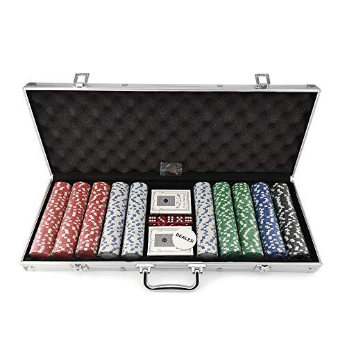 Tradeopia Corp. 500 Piece 11.5 Gram Poker Chip Set with Aluminium Case