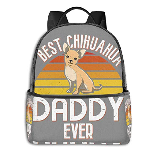 Daddy Dog Dad Best Giftfashion School Backpack Unisex Classic Lightweight Backpack Printing Cute for Boys Girls High School College Schoolbag Sloth