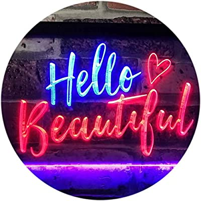 ADVPRO Hello Beautiful Battling Cancers Support Dual Color LED Neon Sign st6-i1177