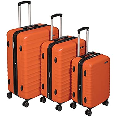 AmazonBasics Hardside Spinner Luggage - 3 Piece Set (20 , 24 , 28 ), Burnt Orange