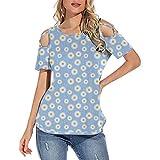 Women's Long Sleeve Boat Neck Off Shoulder Blouse Tops Girls Tops Size 10-12 Womens Tank Tops Dressy Womens Babydoll Tops Womens Shirts Casual Womens T Shirt(#2-Blue,XXL)