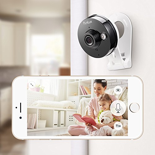 Funlux 720p HD WiFi Wireless Smart Home Security Camera System Indoor Two-Way Audio Night Vision Motion Detection 115 Degree Viewing Angle (2 Pack)