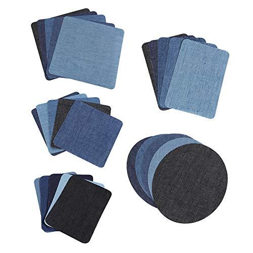 【-】 Naaien Decoratie Patch Patches, DIY Kleding Repareren Decoratie Patch 25 Rechthoekige Ellips Naaien Patch, Broeken Rokken Jeans voor Overhemden Blouses