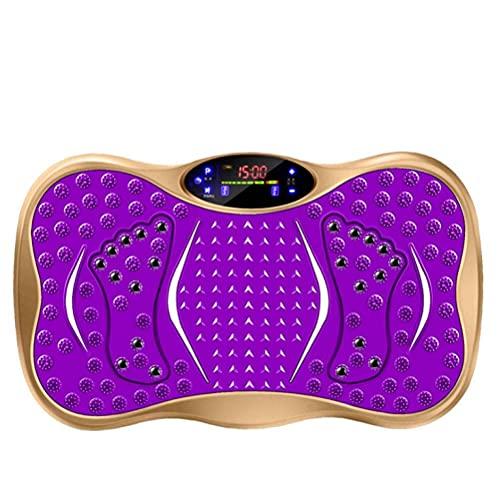 ZHZHUANG Unisex-Vibrationsplatte, Vibrationsplattenmaschine, Stehendes Abnehmen Von Maschinen, Lazy Massage Shake-Maschine Zum Gewichtsverlust,Gold,52,5 X 31 X 12,5 cm