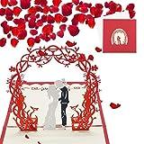 Sethexy 3D Romantico Invito a nozze Biglietti d'auguri con buste Dolcemente Fatto a mano Apparire Anniversario Regalo di matrimonio per la famiglia degli amici del marito della moglie