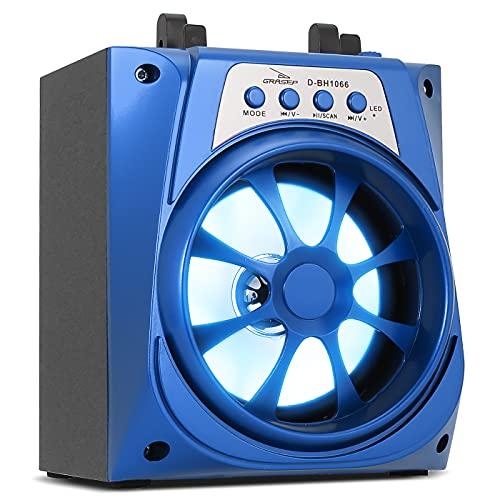Caixa De Som Portátil Bluetooth USB Mp3 TWS SD Fm P2 Grasep D-BH1066 (Azul)