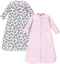 Hudson Baby unisex baby Cotton Long-Sleeve Sleeping Bag, Sack, Wearable Blanket, Toile, 0-3 Month US