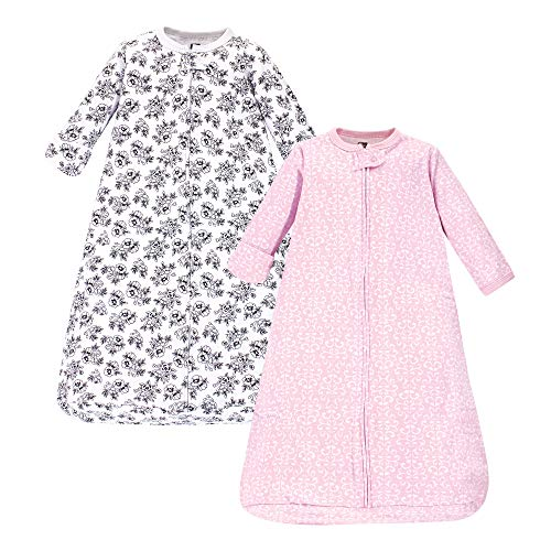 Hudson Baby Unisex Baby Cotton Long-Sleeve Wearable Sleeping Bag, Sack, Blanket, Toile, 0-3 Months
