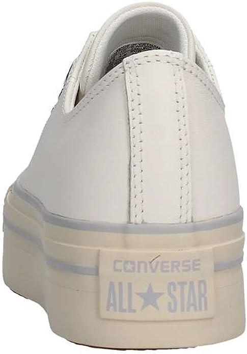 CONVERSE SNEAKERS ALL STAR CTAS PLATFORM OX BIANCO PELLE 559014C ...
