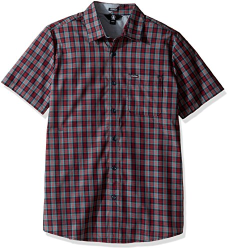 Volcom Amerson Chemise Manches Courtes Homme, Sulfur Blue, FR : X-Small (Taille Fabricant : XS)
