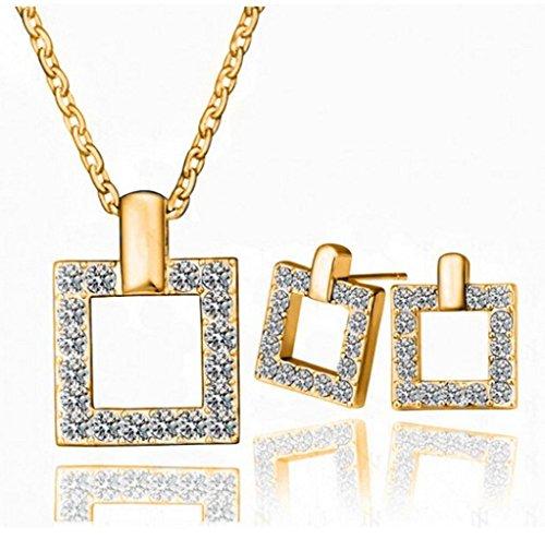 GYJUN Bijoux Colliers décoratifs / Boucles d'oreille Mariage / Soirée / Quotidien / Décontracté Cristal 1set Femme Cadeaux de mariage , golden