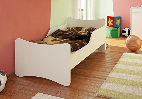 Best For Kids Kinderbett 70x140 Weiß mit Schaummatratze und TÜV Zertifiziert