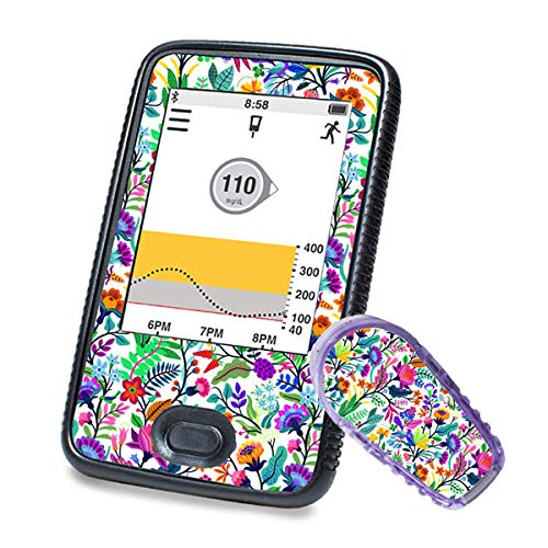 Dexcom G6 Sticker (Receiver + Transmitter) – Happy Flowers | Diasticker®