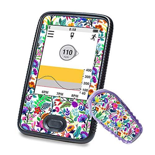 Dexcom G6 Sticker (Receiver + Transmitter) – Happy Flowers | Diasticker®
