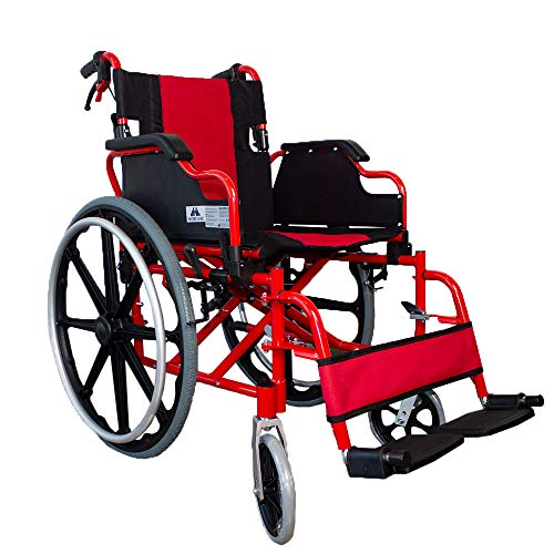 Mobiclinic, Modell Torre, Rollstuhl für ältere und behinderte Menschen, selbstfahrender Faltrollstuhl, orthopädischer Rollstuhl, Leichtgewicht, Kniehebelbremsel, Fliehkraftbremse, Aluminium