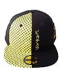 Nintendo Pokemon Block Pikachu Snapback Baseball Cap, Unisex, Black/Yellow (SB500130POK)