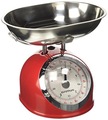 G3Ferrari g2000302 Balance de cuisine mécanique, 5 kg, rouge