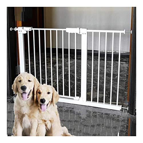 Puerta de seguridad Barandilla Puerta del bebé ampliable 89,7 pulgadas extra ancho Puerta del bebé Incluye 4 pulgadas y de 12 pulgadas de extensión Kit Pack de 4 Presión kit de montaje puerta de segur