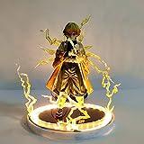Demon Slayer Action Anime Figuras Kimetsu No Yaiba Agatsuma Agatsuma Zenitsu Luces de Noche LED Esta...