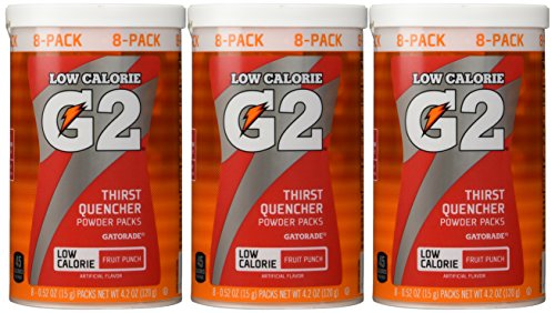 Gatorade Perform 02 Powder Packet G2 - Fruit Punch (8 - 0.52 oz packets per c...