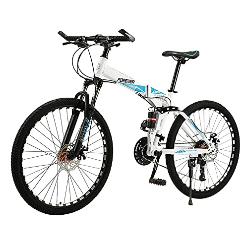 Mountain Bike, Road Bike, 26-inch Wheels, 27-Speed, High-Carbon Steel Frame, Dual-Disc Shock-Absorbing Bikes, Available for Men and Women/A/As Shown