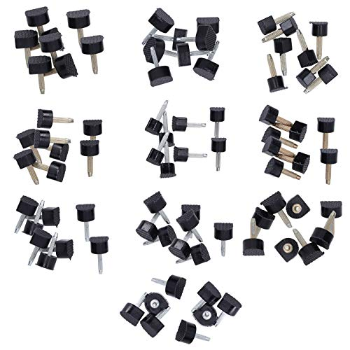 80 piezas de repuesto de reparación de zapatos de tacón alto, pin de puntas de reparación de hierro de poliuretano de diferentes tamaños para zapatos de mujer