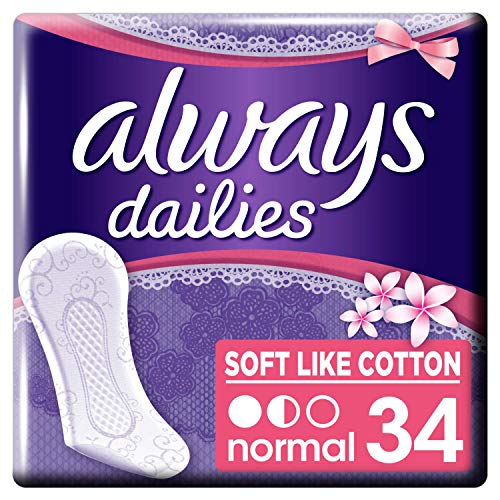 Always Dailies Zacht als Katoen Normale Verse Panty Liners, 4015400567387