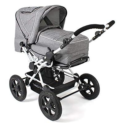 CHIC 4 BABY 100 60 Viva - Cochecito combi para bebé, incluye bolsa de transporte, color gris