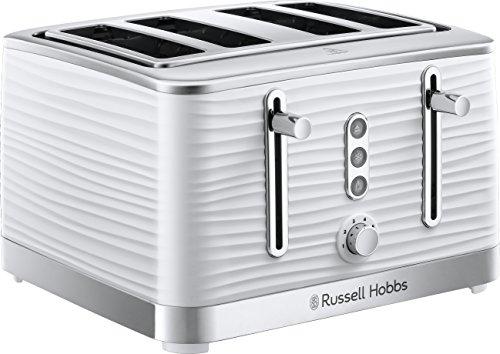 Russell Hobbs 24380 Inspire White High Gloss Plastic Four Slice Tostadora -...