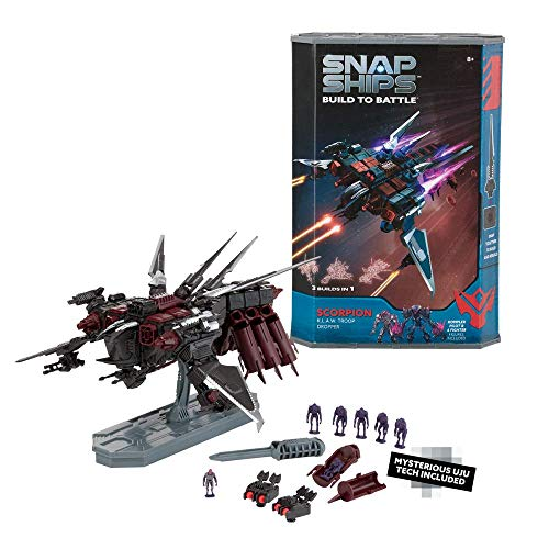 Snap Ships Scorpion K.L.A.W. Troop Dropper -- Construction Toy for Custom Building and Battle Play -- Ages 8+
