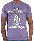 Hariz - Camiseta para hombre, diseño con texto 'Seine Majestät Der Papa 4 papá Día del Padre Baby Plus' morado XXXL