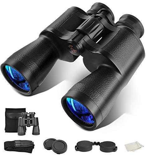 Binoculars for Adults 10x50, JZBRAIN Hunting Binoculars for Bird Watching with BAK4 Lens and Weak Light Night Vision, 22mm Large Eyepiece Lightweight Binoculars for Hunting Travel Sports