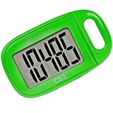 OZO Fitness CS1 Easy Pedometer for Walking | Step Counter with Large Display and Lanyard (Green)