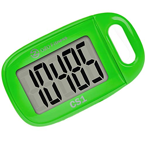 OZO Fitness CS1 Easy Pedometer for Walking | Step Counter with Large Display and Lanyard (Green) Features Fitness Pedometers Sports