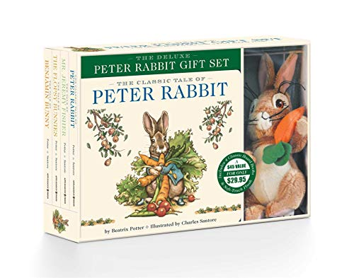The Peter Rabbit Deluxe Plush Gift Set: The Classic Edition Board Book + Plush Stuffed Animal Toy Rabbit Gift Set