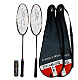 Browning Plasma Platinum 70 - Raqueta de bádminton (2 raquetas y lanzaderas)