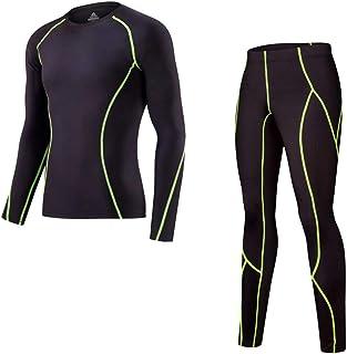 FENTINAYA Men's Thermal Underwear Suit Winter Running Warm Base Layer Fitness Compression Long Johns