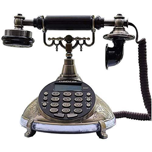 VERDELZ Teléfono Fijo Teléfono Fijo Decoración Retro para El Hogar Teléfono Fijo Teléfono De Marcación con Botón De Registro Digital Fijo