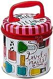 Rachel Ellen Designs - Lata de Almacenamiento con Cremallera para niña - Esmalte de uñas