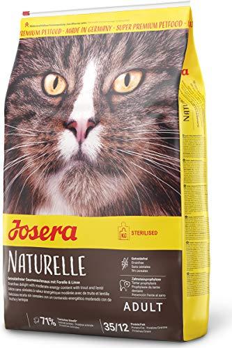 JOSERA Naturelle, getreidefreies Katzenfutter mit moderatem Fettgehalt, ideal für sterilisierte Katzen, Super Premium Trockenfutter für ausgewachsene Katzen, 1er Pack (1 x 10 kg)