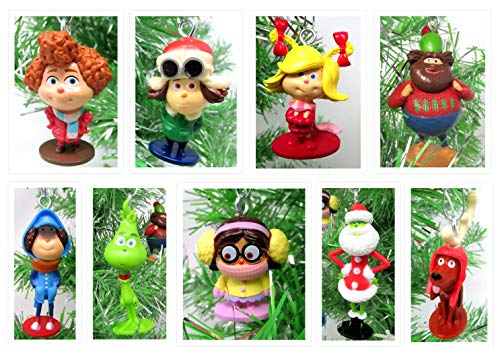 The Grinch Who Stole Christmas Mini Ornament Set mit kultigen Grinch Figuren – ca. 3,8 cm bis 5,1 cm hoch