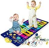 Alfombra de Piano, Alfombra Musical de Teclado para Bebé, Alfombra para Piano Juguetes Musicales Regalos para Niños Niñas de 1 a 5 Años (120 x 48 cm)