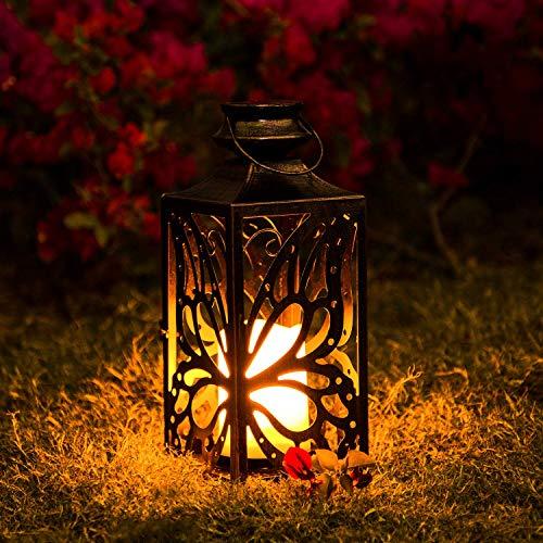 Linterna Solar Exterior Lámpara de Jardin,OxyLED 1 PCS IP44 Impermeables Decorativa Luces Solares de Camino de Paisaje Para Patio,Césped,Pasillo,Festival Navidad