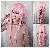COSPLAZA Parrucca con capelli lunghi sintetici, colore: rosa, per travestimenti cosplay di Yuno Gasai della serie Future Diary