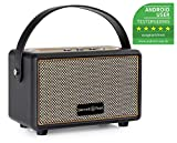 Bennett & Ross BB-820 Blackmore Junior - Retro Bluetooth Lautsprecher in Lederoptik mit 2200 mAh Akku - Vintage Speaker mit 20W - MicroSD-Eingang mit MP3-Player - 3,5mm Aux-Anschluss -...